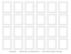 Postage Stamp Template - for post office dramatic play.