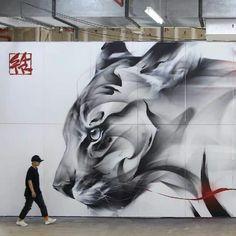 Street Art Love, Urban Street Art, Amazing Street Art, Street Mural, Street Art Graffiti, Street Art Utopia, Mural Art, Wall Mural, Art Graphique