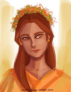 Portrait of Hestia by illustrationrookie.deviantart.com on @deviantART