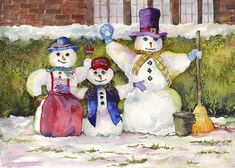 """Jolly Holiday"" - by Charlotte Peterson                    ~ Watercolor"