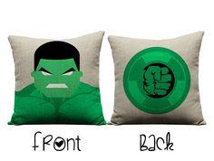 Hulk pillow, the hulk, Avengers, incredible hulk, throw pillows, marvel, marvel comics, birthday, children, christmas, presents, pillows