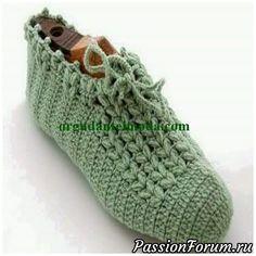 Crochet Pattern Slipper Socks – Crochet For Beginners Crochet Slipper Boots, Crochet Slipper Pattern, Crochet Gloves, Knitted Slippers, Slipper Socks, Crochet Beanie, Crochet Patterns, Love Crochet, Vintage Crochet