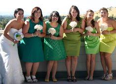Green bridesmaid dresses @Kim Arnold