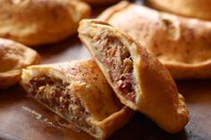 Pulled Pork Pokets or as I would say mock empanadas very fast and easy especially with leftover pork roast mmm