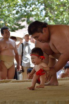 Baby Sumo Wrestler . Japan