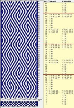 Diagonal, 20 tarjetas, 2 colores, repite cada 14 movimientos //sed_210a diseñado en GTT༺❁