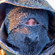 Portrait of my friend Kirill protecting himself against the cold of the Oymyakon region close to the village of Tomtor in Yakutia Russia. The area is extremely cold during the winter. Two towns by the highway Tomtor and Oymyakon both claim to be one of the coldest inhabited places on earth (often referred to as -71.2C but might be -67.7C) outside of Antarctica. The image had been made during an outside temperature in between -50C up to -55C. Image by @rischaard #bjoernsteinz #latergram…
