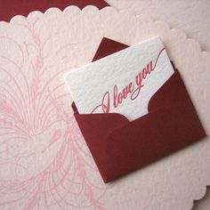 Messenger Bird Letterpress Love Card by Missive