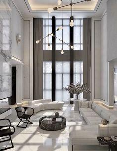20 besten Luxus-Wohnzimmer-Ideen - - List of the best home decor Home Living Room, Interior Design Living Room, Living Room Designs, Modern Interior, Interior Decorating, Minimalist Interior, Luxury Interior Design, Modern Luxury, Kitchen Living