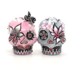Wedding Cake Toppers Day of the Dead Skull Cake Toppers Gothic Theme 00073  www.goodiemud.com