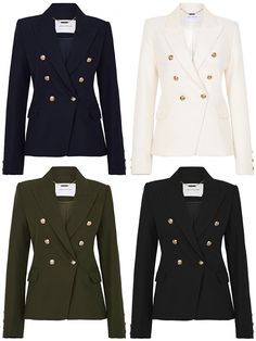 Save or Splurge - Balmain Double-Breasted Wool-Twill Blazer Work Attire, Work Outfits, Trendy Outfits, Fall Outfits, Cute Outfits, Balmain Blazer Outfits, Blazer Fashion, Fashion Outfits, Rebecca Miller