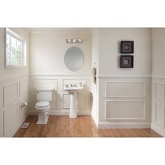 Shop AquaSource 33.66-in H White Vitreous China Pedestal Sink at Lowes ...