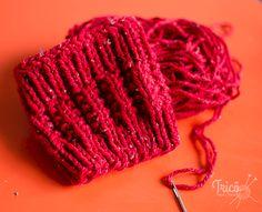 Passo a Passo de como fazer uma Mini Polaina em tricô.