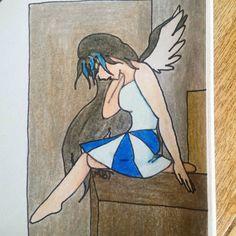 "25 Likes, 3 Comments - Drawing Anime Art (@craftingartist) on Instagram: ""Iciss art #anime #manga #art #animedrawing #mangadrawing #background #backgroundpractice #angel…"""