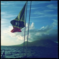 Looking out my backdoor! A catamaran ride in St. Kitts.