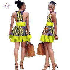 African Dress for Women 2017 Summer Vintage Maxi Dashiki bazin riche dresses Above Knee casual clothing Natural other African Dresses For Women, African Attire, African Wear, African Women, African Fashion Ankara, African Print Fashion, Africa Fashion, Kitenge, 20s Fashion