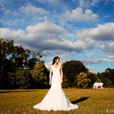 Gorgeous Bride with Horses on a farm!