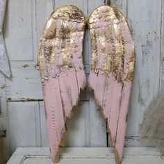 Image result for gold angel wings wall wooden