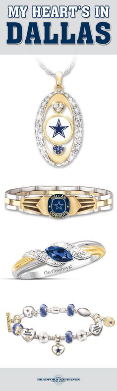 Your connection to the Cowboys is one of pure passion! Let everyone know your heart resides in Dallas with our fine selection of officially-licensed Cowboys jewelry.