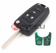 10pcs/lot Folding Remote Key Fob 4 Button 315MHz ID46 for Chevrolet Equinox Cruze Uncut Blade #Affiliate