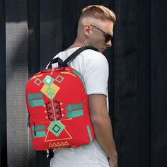 Backpack sold by Love . Shop more products from Love on Storenvy, the home of independent small businesses all over the world. Sports Activities, Are You The One, Fashion Backpack, Pattern Design, Print Patterns, Laptop, Weather, Backpacks, Pockets