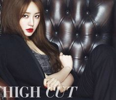 Yoon Eun Hye rocks bold 'Yves Saint Laurent' lipstick in new photos for 'High Cut' | http://www.allkpop.com/article/2014/05/yoon-eun-hye-rocks-bold-yves-saint-laurent-lipstick-in-new-photos-for-high-cut