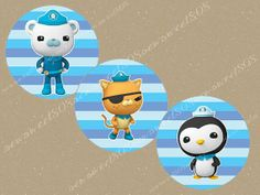 INSTANT DOWNLOAD Octonauts 2inch  DIY Cupcake Toppers Printable on Etsy, $2.50