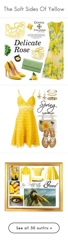 """""""The Soft Sides Of Yellow"""" by kimberlydalessandro ❤ liked on Polyvore featuring Lela Rose, Rupert Sanderson, Valextra, Giambattista Valli, Argent of London, Sydney Evan, Todd Reed, Chaumet, WearAll and Philipp Plein"""