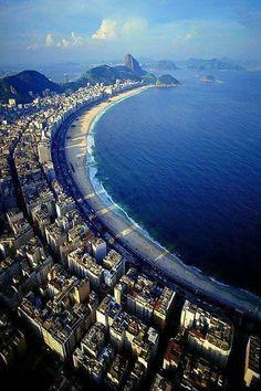 'Copacabana Beach' (Aerial) Rio de Janeiro, Brazil