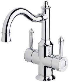 Nostalgia Twin Handle Sink Mixer 160mm Shepherds Crook