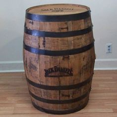Authentic Jack Daniels Branded and Engraved Whiskey Barrel