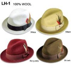 Sombrero de Lana del 100 % Masculino Disponible en Blanco a57e1c8b4351