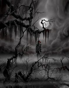 Choose your favorite dark paintings from millions of available designs. All dark paintings ship within 48 hours and include a money-back guarantee. Gothic Horror, Arte Horror, Horror Art, Fantasy Kunst, Dark Fantasy Art, Imagenes Dark, Graveyard Tattoo, Dark Paintings, Beautiful Dark Art