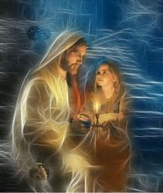 I typically avoid images that portray Jesus' face but this is so lovely.....