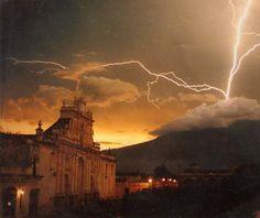 Incredible storm @ Antigua Guatemala