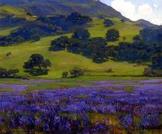 William Wendt, Lupine Patch, 1921