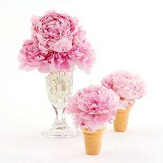 Ice cream flower center pieces