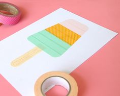 Omiyage Blogs: Washi Tape Popsicle Card - Version Two