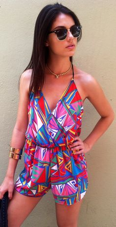 This Geometric Artsy Romper is everything.