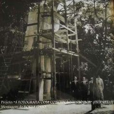 1962 - Construção da estátua do Borba Gato na avenida Santo Amaro.