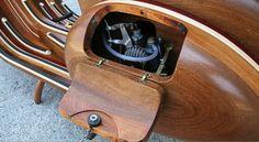 Detalle del carburador de Daniela, Vespa de madera