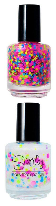 Bright and Bold Nail Polishes #polish #manicure #confetti #bright #color