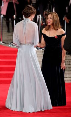 LOVE the back of Kate's gown!  Kate Middleton Is Peak Princess at Spectre Premiere  - ELLE.com