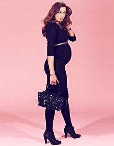 Black Maternity Shift Dress
