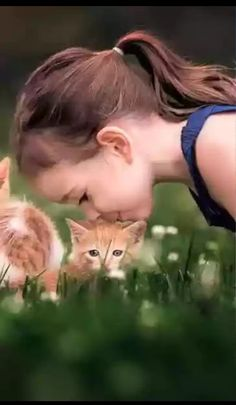 """Adorable Child:  """"Oh sweet soft kittens of mine, you always put me on cloud nine!""""   (Written By:  © Lynn Chateau.)"""