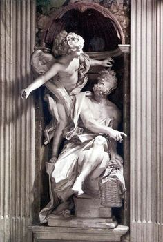 Saint Marie's basilica of the People - Rome Italy / Basílica de Santa María del Popolo Baroque Sculpture, Abstract Sculpture, Sculpture Art, Metal Sculptures, Ancient Greek Sculpture, Statue Tattoo, Architectural Sculpture, Religious Paintings, Greek Art