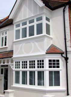 Image result for cream house white windows uk