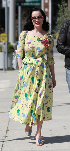 suicideblonde:    Dita Von Teese out in West Hollywood, April 6th
