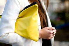 diy clutch, colors, clutches, yellow clutch, style scrapbook, belle, black, bags, lemon