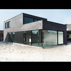 Projects - Architect Aalst, Tom Lierman - office for architecture and interior - Projects – Architect Aalst, Tom Lierman – office for architecture and interior - Brick Architecture, Futuristic Architecture, Interior Architecture, Facade House, House Facades, House Exteriors, Model Homes, Future House, Building A House